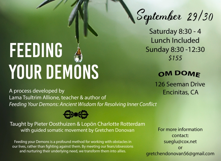Feeding your demons flyer